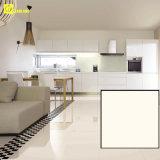 モノラル白いカラー居間の磨かれた磁器の床タイル