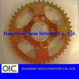 Yellow Zinc Galvanized Sprocket