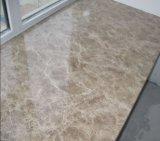 Tuile de marbre légère Polished d'Emperador de pierre normale de la Chine, carrelage