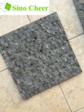 Disegni spaccati delle mattonelle di pavimento del mosaico del marmo del nero della pietra del fronte