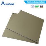 el panel compuesto de aluminio de la capa de 4m m PVDF para la decoración de la pared exterior