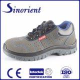 Fábrica de sapatas de aço RS6162 da segurança do dedo do pé do couro genuíno