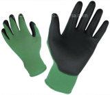 Цветастая Nylon перчатка работы при покрынная ладонь PU (PN8005)
