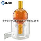 Pièce d'assemblage en verre de Dabber de barboteur de chapeau en verre de carburateur (CC-2)