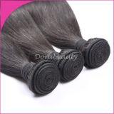 Tessitura diritta naturale umana dei capelli neri del Virgin 100% della Mongolia