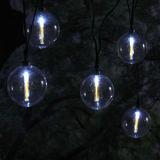Indicatore luminoso solare 10 LED della stringa del globo dell'aurora