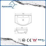 半引込められた浴室の陶磁器のキャビネットの洗面器手の洗浄の流し(ACB8255)
