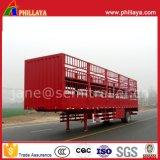 Aanhangwagen van het Paard van het Vee van de Vrachtwagen van het Vervoer van dieren van het Vee van het Koolstofstaal de Semi