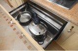 現代朝食用カウンター(zc-024)が付いているPVCベニヤの台所