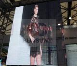 Tela elevada do diodo emissor de luz do Transparence para a propaganda na alameda de compra