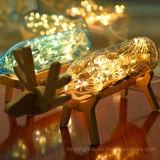 Vino de madera creativo de la botella de la Navidad de la dimensión de una variable de los alces el un atormenta el sostenedor