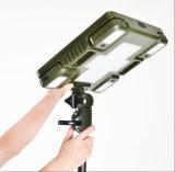 Uso portatile del LED e staccabile chiaro multifunzionale di campeggio solare ed addebitabile per il telefono mobile