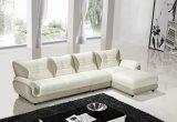 Sofá de couro ajustado do sofá da sala de visitas com L secional forma para o sofá Home