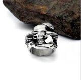 De Toebehoren van de Manier van het Roestvrij staal van de Ring van de gotische Mensen van de Schedel 316L