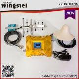 aumentador de presión móvil sin hilos de la señal del RF de la venda dual celular del teléfono celular 900 2100MHz