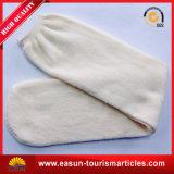 Baumwollweiße Fluglinien-Socken 100% für Wegwerfgebrauch