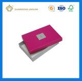 Rectángulo de papel colorido del perfume de la cartulina de la impresión ULTRAVIOLETA con la bandeja del PVC (con la tapa clara de la ventana del PVC)