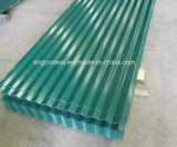 Hoja de acero galvanizada de acero de la placa de acero del color de la placa de azotea de azulejo