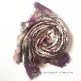 Bufanda impresa Flourish del poliester de la manera con la piedra cristalina (HM099)
