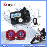 USB MP3 мотора аварийной системы мотовелосипеда цифровых часов мотоцикла тональнозвуковой