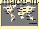 Reloj de pared de hora mundial 24 Mayor Ciudad Digital Grande LED en el precio de fábrica