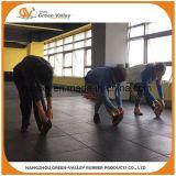 Couvre-tapis en caoutchouc résistant aux chocs de carrelage pour la forme physique de gymnastique