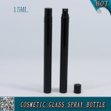 5ml 10ml 15ml Shinny las botellas de cristal del aerosol de los frascos del color negro para el perfume con el rociador de la niebla