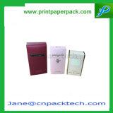 Rectángulo de empaquetado cosmético impreso aduana del cuidado de piel del perfume del producto