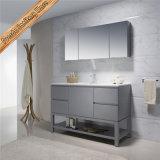 Gabinete de banheiro cinzento do revestimento da vaidade do banheiro do dissipador Fed-1207 dobro