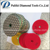 Almofada de polonês flexível do granito da resina do diamante