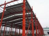 Magazzino di basso costo della struttura d'acciaio & dell'ampia luce e costruzione dell'acciaio