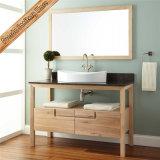 Vanité simple de salle de bains de bassin en bois Fed-316 solide de salle de bains de vanité moderne de Module