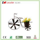 Flowerpots enduits de bicyclette en métal de poudre décorative pour la décoration de maison et de jardin