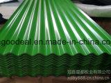 25-205-1025 PPGL acanalado galvanizado cubierto color PPGI para la hoja del material para techos del metal