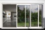 Marcos grandes enmarcados aluminio de la puerta del desplazamiento y de la elevación del patio del balcón con la polea y la maneta importadas