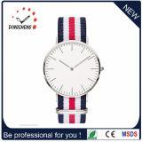 Relógios de aço do couro do relógio do bracelete do relógio de pulso da forma (DC-123)