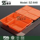 casella di pranzo di 4-Compartment Bento & contenitore di alimento di plastica sicuro a gettare