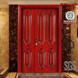 Puertas exteriores de madera del doble de la puerta de la mama y del hijo (GSP1-022)
