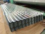 Placa de azotea de acero del color/hoja acanalada del material para techos del cinc