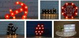 플라스틱 LED 훈장 기술 선물 26 편지 LED 빛