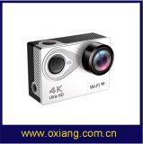 Камера действия миниой видеокамеры цифров спорта 4k WiFi подводная 30m беспроволочная, 10 фотоих в 2 секунды