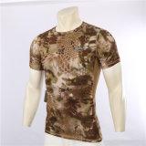 uomini della maglietta dell'Rapido-Essiccamento del camuffamento del pitone di estate 4colors