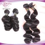 O Weave brasileiro do cabelo da onda frouxa empacota o cabelo humano natural da cor 100% que tece o cabelo de Remy