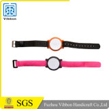 NFC NylonWristband mit Klipp-Uhr-Kopf-und Flausch-Uhrenarmband