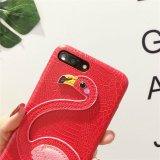 Neuer kundenspezifischer Luxuxflamingo Lichee PU-lederne Handy-Fälle