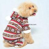 Les produits d'animal familier de Noël tricotant le crabot vêtx la salopette