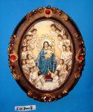 Plaque van de Muur Polyresin van Kerstmis de Decoratieve