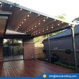 LEDのストリップが付いている日除けのテラスの屋根のPergolaカバー
