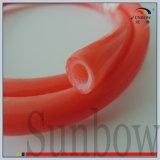 Tubo reforzado sacado colorido del caucho de silicón con hilado de la fibra de vidrio