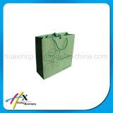 Bolso de compras reciclable por encargo del papel de arte con la maneta